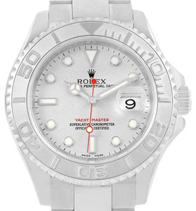 Rolex Rolex Yachtmaster 40mm Steel Platinum Dial Bezel Mens Watch 16622