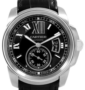 Cartier Cartier Calibre Steel Automatic Black Dial Mens Watch W7100014