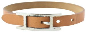 Hermès Hapi Brown Leather Api Bracelet 9hz0831