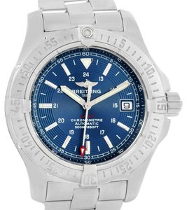 Breitling Breitling Colt 41mm Blue Dial Steel Mens Watch A17380 Box Papers