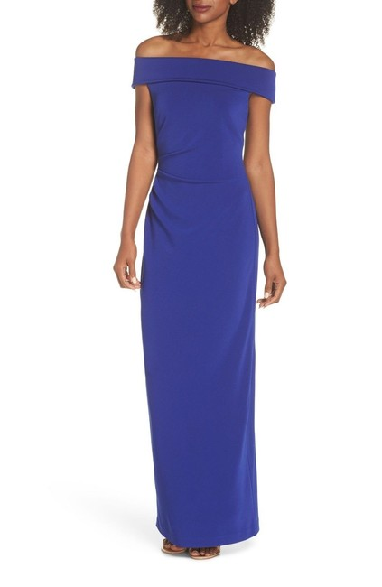 Vince Camuto Violet Womens Off The Shoulder Gown Long Formal Dress