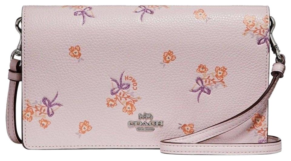 Coach Foldover Clutch with Floral Bow Print 31587 Ice Pink Leather ... dea881ca14a3d