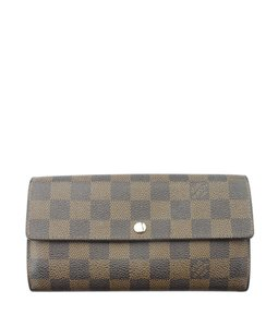 Louis Vuitton Louis Vuitton Sarah Damier Ebene Snap Wallet (157015)