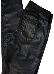 Joie Coated Leather Skinny Jeans