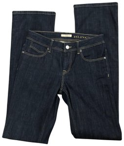 Burberry Boot Cut Jeans-Dark Rinse