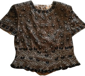 Papell Boutique Top Black/Gray