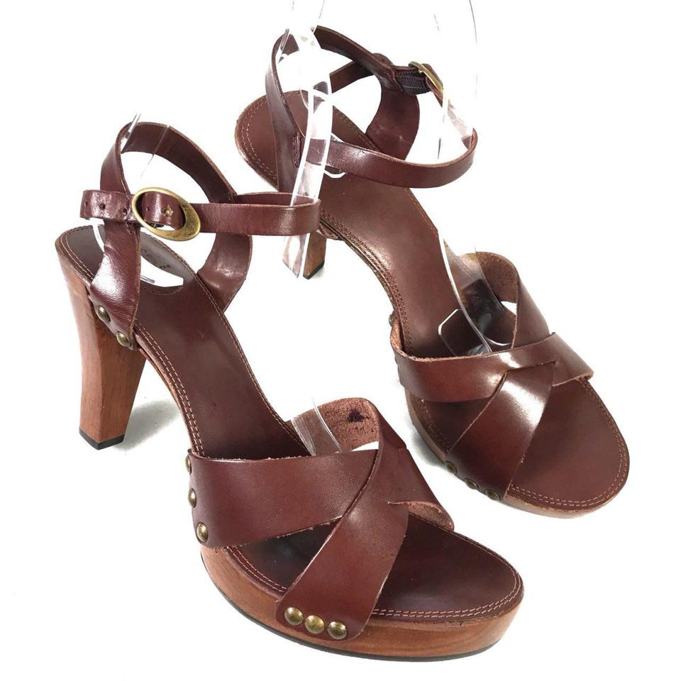 Frye Strap Dark Brown Women's Ankle Strap Frye Heeled New Sandals 848430