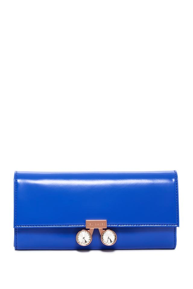 c89424a72b9a Ted Baker Ted Baker London Eleni Crystal Bobble Lock Leather Matinee Wallet  NWT Image 0 ...