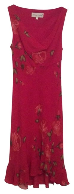 Preload https://item2.tradesy.com/images/donna-ricco-bright-pink-long-cocktail-dress-size-4-s-2395636-0-0.jpg?width=400&height=650