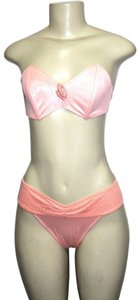 Le FOGLIE Peach Women's Two Piece Strapless Bikini Swimsuit ***made In Italy*