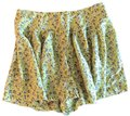 Madewell Broadway and Broome Silk Comfortable Flowing Skort Yellow