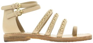 Chanel Leather Beige Sandals
