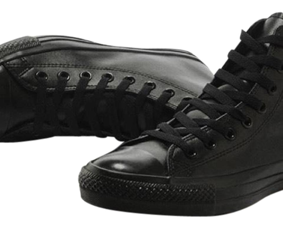 93dabfddbb4ac4 Converse Black All Leather All Star High Tops Sneakers Size US 10 ...