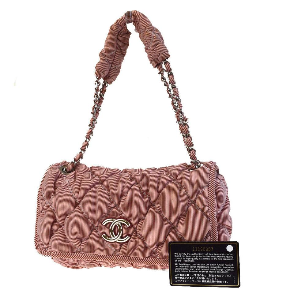 c764d764de94 Chanel Quilted Red Canvas Shoulder Bag - Tradesy