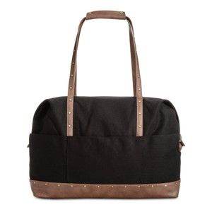 Style & Co Satchel Duffle Canvas black/ brown Travel Bag