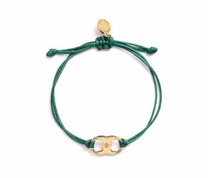 Tory Burch New Tory Burch Embrace Ambition Silk Gemini Bracelet Green