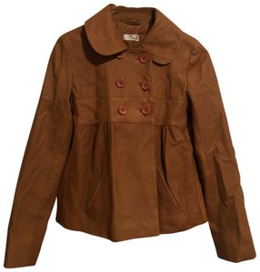 ba&sh Brown Leather Jacket