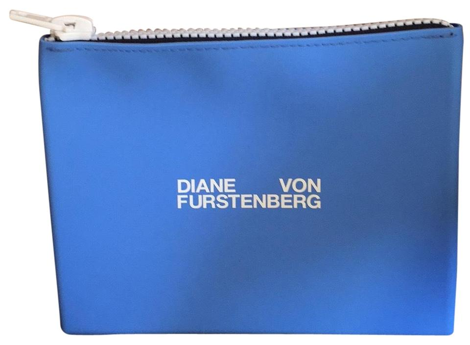 6f8526d633 Diane von Furstenberg Blue Silicone Toiletry Cosmetic Bag - Tradesy