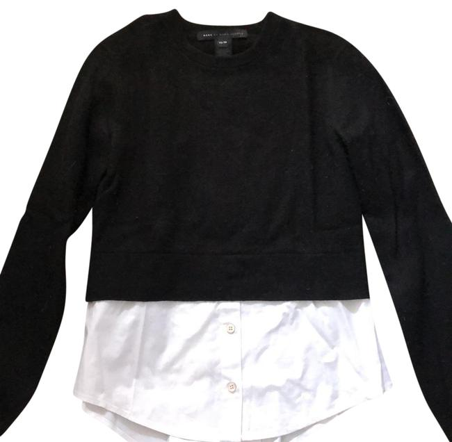 Preload https://img-static.tradesy.com/item/23958267/marc-by-marc-jacobs-black-with-attached-white-blouse-sweater-0-1-650-650.jpg