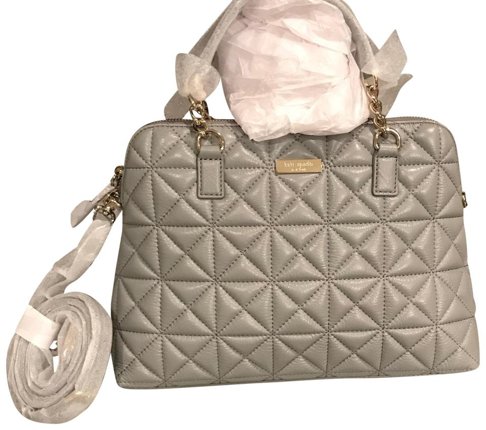 Kate Spade Rachelle Tote Crossbody Shoulder Purse Gray Quilted Leather  Satchel d26076a0c9343