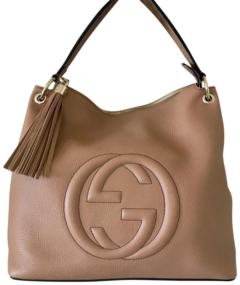 cb6110d2f39d Gucci Soho Tote Large Nude Calfskin Leather Hobo Bag - Tradesy