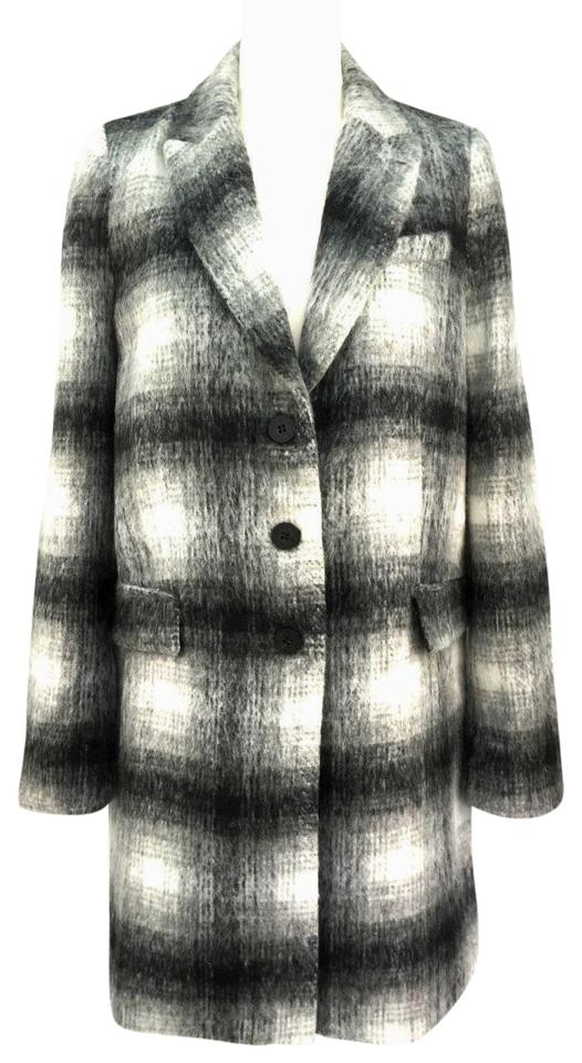 b33c14b1 Zara Gray Plaid Jacket Coat Size 8 (M) - Tradesy