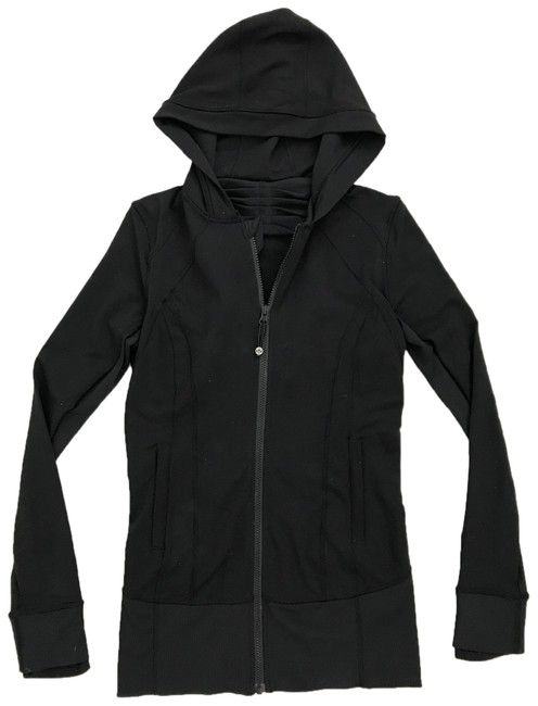 Item - Black Long Activewear Outerwear Size 4 (S)