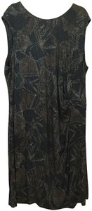 NIC+ZOE Print Sleeveless Side Gather Drape Pullover New With Tags Dress