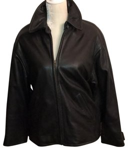 Harold Powell black Leather Jacket