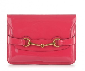 Gucci Patent Leather Clutch Shoulder Cross Body Bag