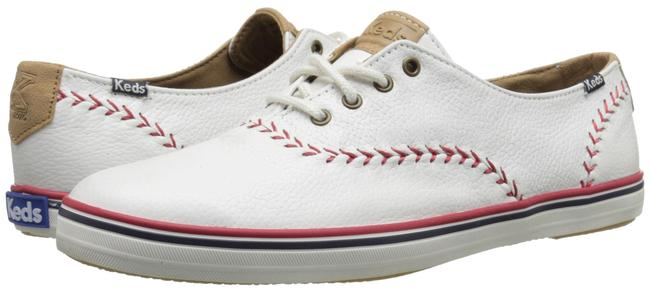 "Item - White Leather ""Champion Pennant Baseball"" Sneakers Size US 6 Regular (M, B)"
