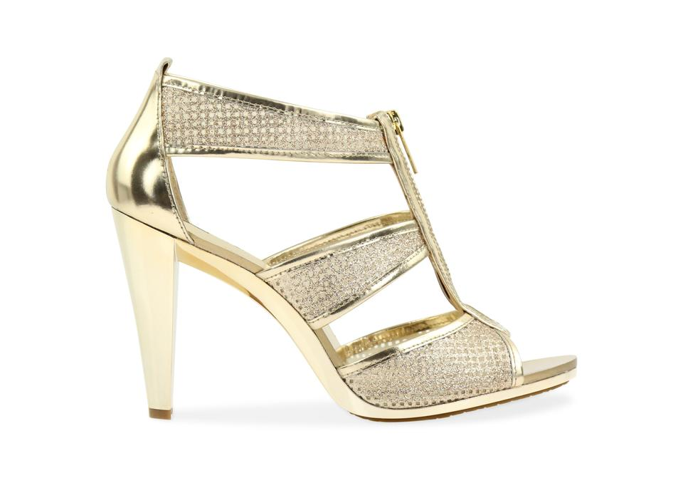 434a8ed9e8b0 MICHAEL Michael Kors Gold Berkley T-strap Sandals Size US 10 Regular ...