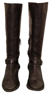 Arturo Chiang Vintage Leather Midcalf Black Boots
