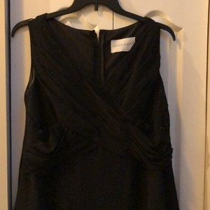 Alfred Angelo Black Gown Formal Bridesmaid/Mob Dress Size 16 (XL, Plus 0x)