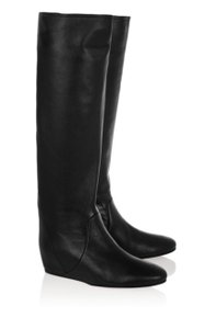 Lanvin Leather Unworn Wedge Black Boots