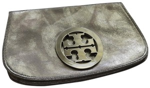 Tory Burch Metallic Silver Clutch