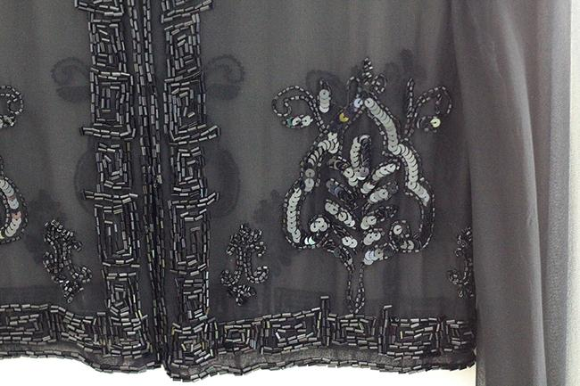 Other Evening Party Event Top Black Chiffon with sequence Image 11