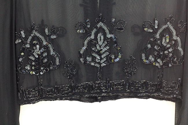 Other Evening Party Event Top Black Chiffon with sequence Image 8