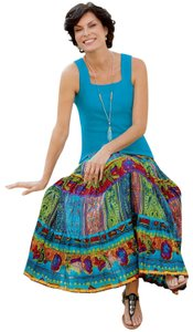TravelSmith Maxi Skirt multi color