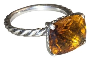 David Yurman Orang Citrine Gemstone Cable Classics Solitaire Sterling Silver 925 7