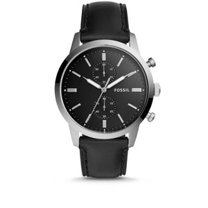 Fossil Fossil Men's 'Townsman' Quartz Stainless Steel and Leather Watch