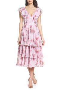 Fame and Partners Midi Ruffle Party Layers Dress