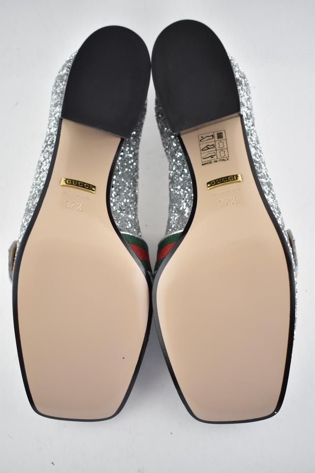 abbd9cf56b5 Gucci Loafer Mule Slide Marmont Peyton silver Pumps Image 11.  123456789101112