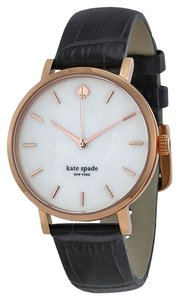 Kate Spade Kate Spade New York Watch, Women's Metro brown Croc-Embossed Leather Strap 34mm 1YRU0310
