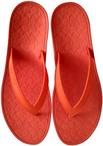 Coach Rubber Casual Classic Signature Coral/Orange Sandals