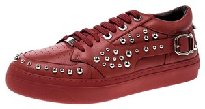 Jimmy Choo Studded Leather Red Athletic