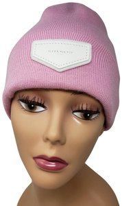 Givenchy Pink Givenchy logo embellished knit beanie