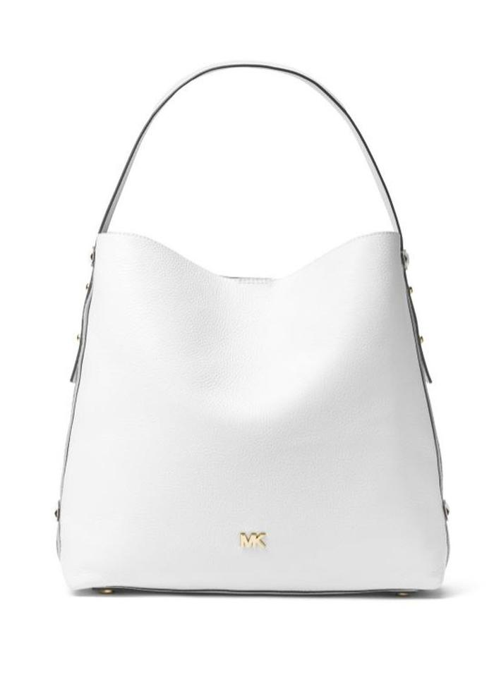 9a3ddf4501 Michael Kors Griffin Large Optic White Leather Hobo Bag - Tradesy