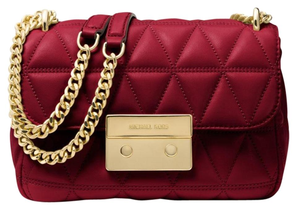 17f7dbbe414a0f Michael Kors Sloan Small Quilted-leather 30s7gsll1l Maroon Leather ...
