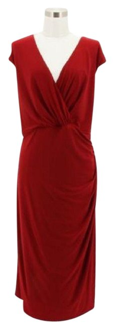 Preload https://img-static.tradesy.com/item/23961106/lauren-ralph-lauren-red-a141-designer-solid-sheath-v-ne-long-formal-dress-size-22-plus-2x-0-1-650-650.jpg